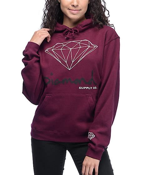 Sweater Coolwoman Maroon supply co og script hoodie zumiez
