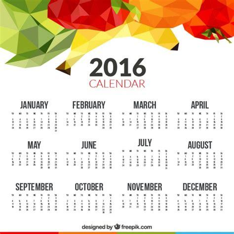 Was Ist Ein Calendrier 2016 Kalender Mit Polygonalen Fr 252 Chte Der