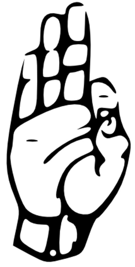 Letter F In Sign Language