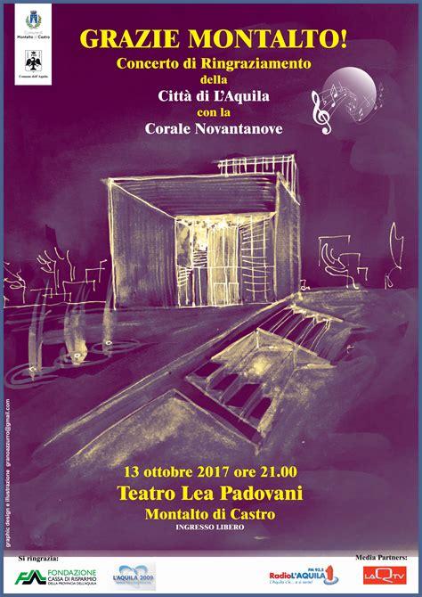 eventi della tuscia 13 ottobre 2017 montalto di castro al lea padovani l aquila dice