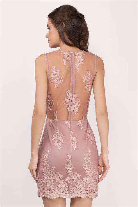Mauve Bodycon Dress - mauve dress v dress pretty pink dress bodycon