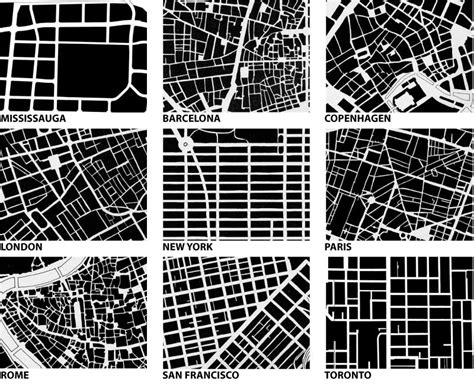 grid pattern streets bricoleurbanism 187 urban fabric form comparison
