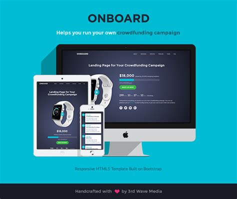 lotus wave themes html bootstrap responsive bootstrap template for crowdfunding caigns