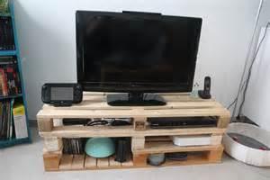 meuble tv en palette de bois mzaol