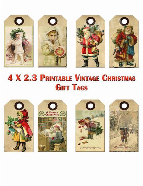 free printable retro christmas gift tags 6 best images of vintage christmas printable gift tags