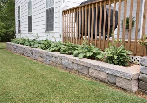 Retaining Wall Planter by Low Retaining Wall Planter Decor Design