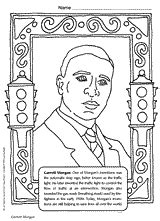 garrett morgan coloring page printable pre k 5th grade