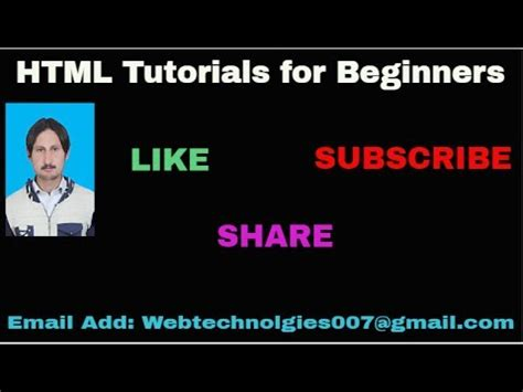 Html Tutorial Urdu Youtube | html tutorials for beginners in urdu hindi part 04 youtube