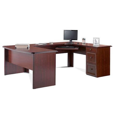 u shaped computer desk realspace 174 broadstreet contoured u shaped desk 30 quot h x 65