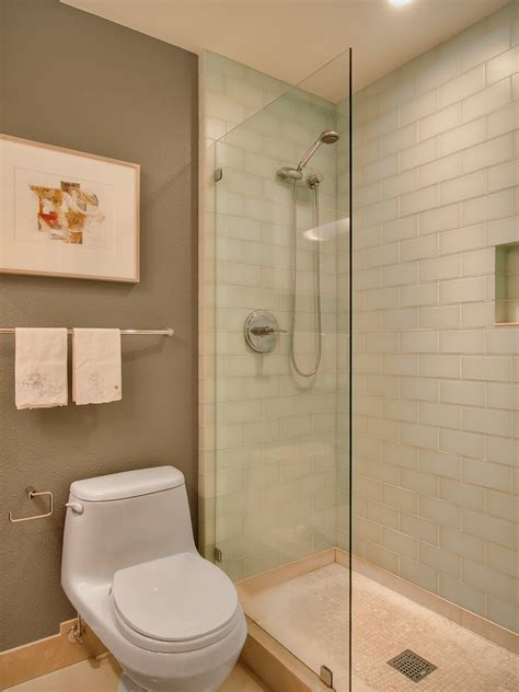 Tiny Bathrooms With Showers Walk In Showers For Small Bathrooms Bathroom Contemporary With Bathroom Tile Glass Tile