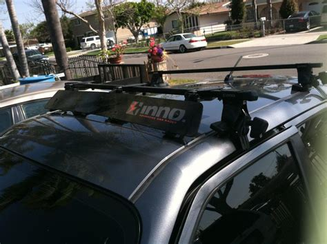 Wind Deflector For Roof Rack by Closed Fs Inno Roof Rack With Wind Deflector