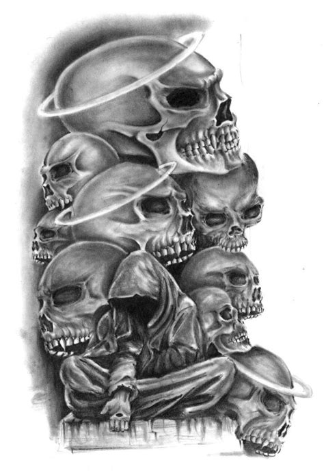 dark tattoo designs skulls design best designs