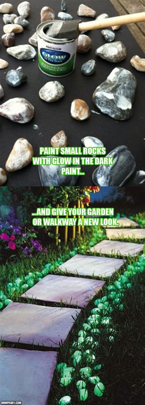 glow in the paint yard ideas a glow in the garden rocks dump a day
