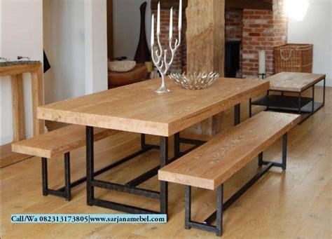 Meja Makan Cafe set meja bangku makan cafe kayu trembesi sarjana mebel sarjana mebel