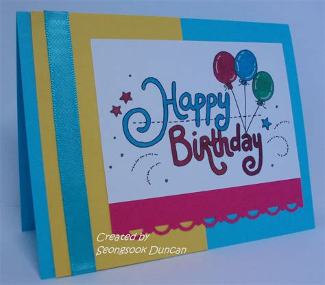 How To Make A Cool Birthday Card Out Of Paper - create with seongsook a stack happy birthday cards