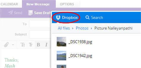 dropbox yahoo how to send large attachments with gmail and yahoo mail