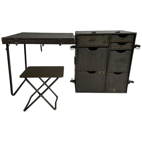 portable l issue no industrial army issue portable desk at 1stdibs