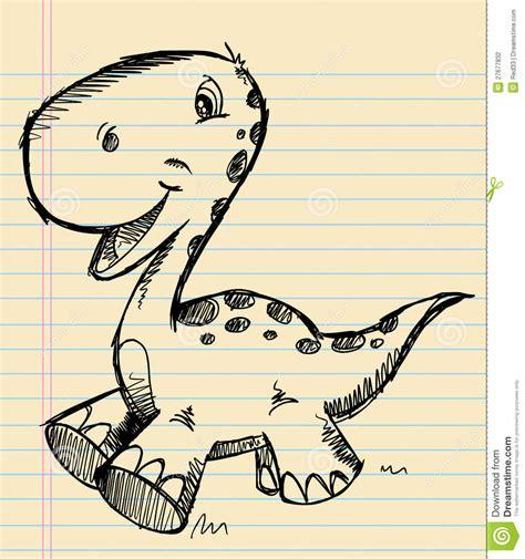 dino doodle dinosaur doodle sketch stock vector illustration of