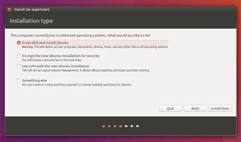 how to install ubuntu from usb partitioning installing on a computer with existing