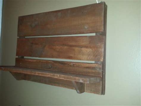 diy rustic wood pallet wall shelf pallet furniture plans
