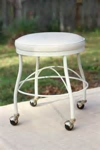 Vanity Chair Casters Vinyl Vanity Stool With Rollng Casters