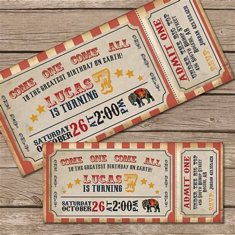 printable circus tickets 25 best ideas about circus tickets on pinterest