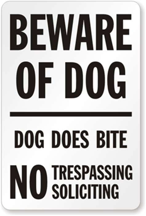 in your house beware of dog beware of dog no trespassing soliciting sign sku s 8773