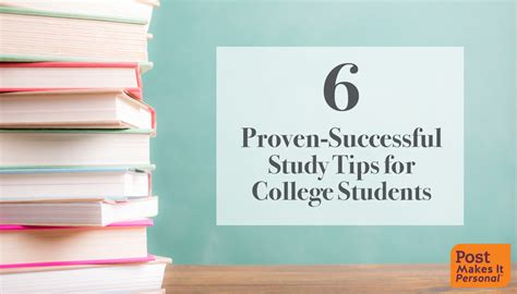8 Tips For College Students by 6 Proven Study Tips For College Students