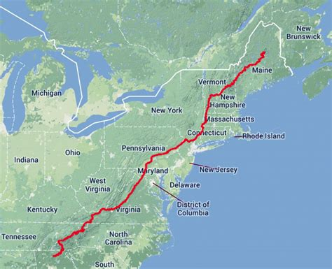 the appalachian trail map map of maine book covers