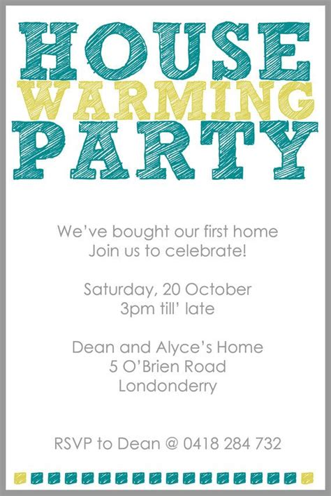 Printable House Party Invitations | 1000 images about housewarming party ideas on pinterest