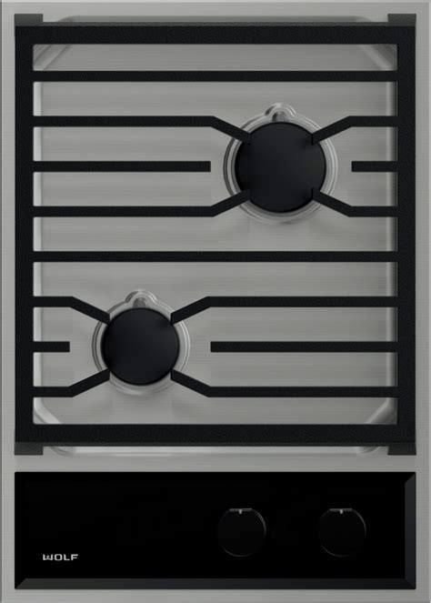 Wolf Gas Cooktop Knobs by Wolf Cg152tslp 15 Inch Gas Cooktop With 2 Sealed Burners