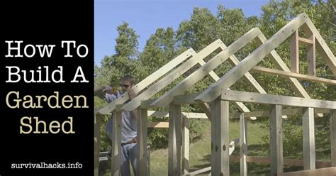 A Garden Shed by How To Build A Garden Shed Roof Framing Grid