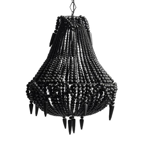 Black Beaded Chandelier Black Beaded Pendant Chandelier By Out There Interiors Notonthehighstreet