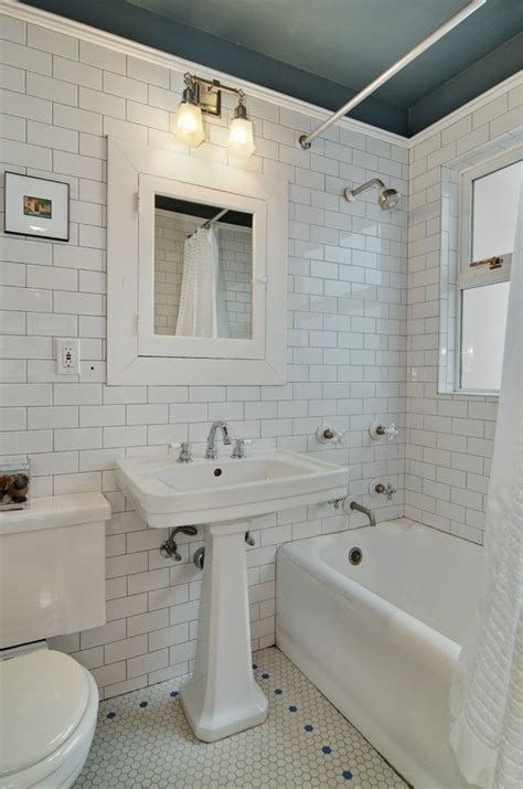subway tile bathrooms subway hex tile ideas for the house pinterest