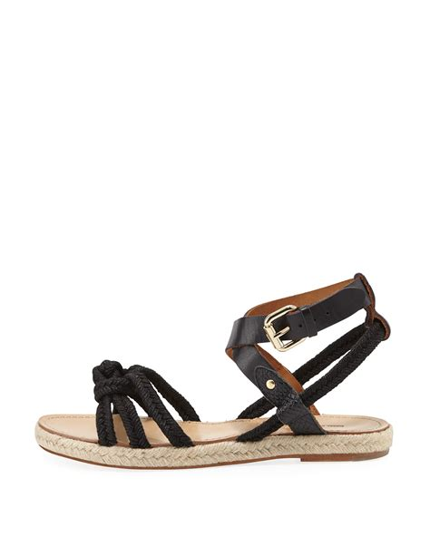 marant sandals marant camila knotted rope sandals in black lyst