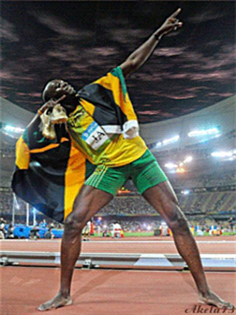 usain bolt animated gif