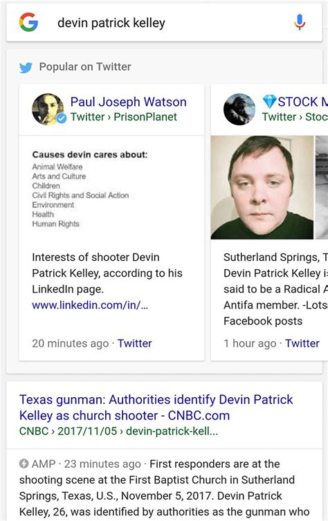 devin kelley twitter google shows low quality tweets for searches on devin