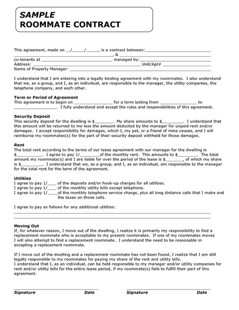 Roommate Contract Sle by Best 25 Roommate Contract Ideas On Colleges College Roommate And Roomate