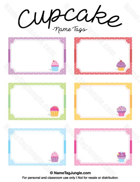 printable name tag cards free printable cupcake name tags the template can also be