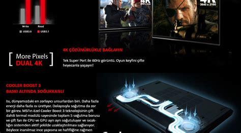 Notebook Gaming Msi Gs43vr 7re Phantom Pro msi gs43vr 7re phantom pro 091tr intel i7 7700hq 2