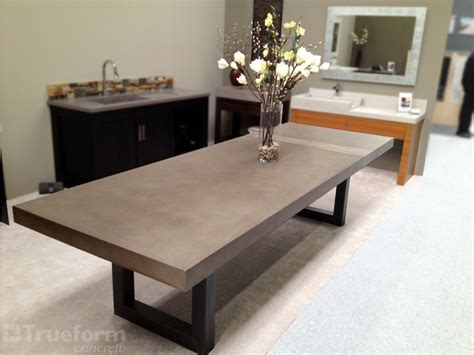 Dining Room Table Contemporary Dining Table By Trueform Concrete Trueform Decor