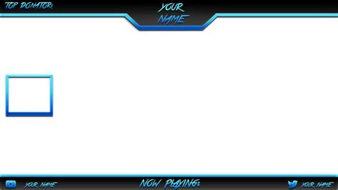Overlay Template Blue By Chunkydruffy On Deviantart Overlay Template