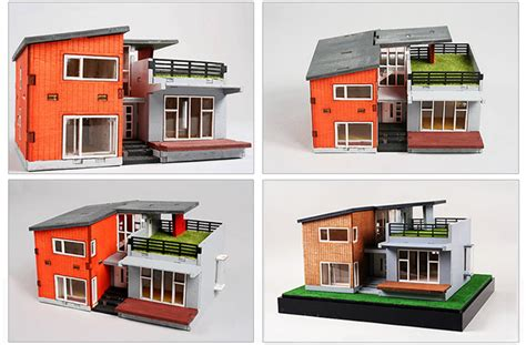 house diorama modern style house wooden model kit ho 3d wood miniature