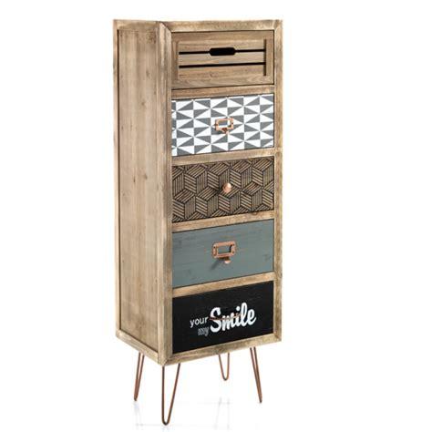 piccole cassettiere cassettiera alta 5 cassetti in stile vintage in legno