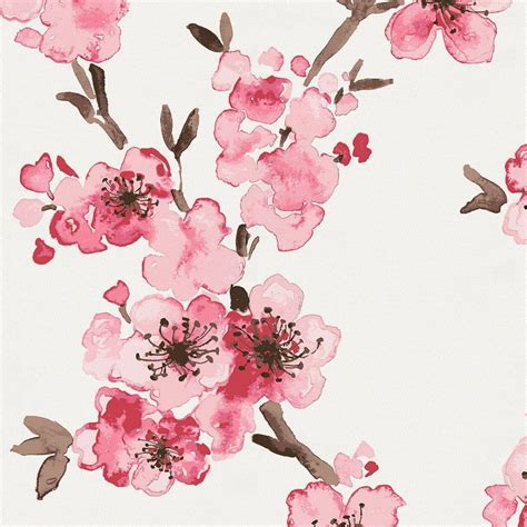 Clearance Home Decor Fabric by Pink Cherry Blossom Fabric By The Yard Pink Fabric