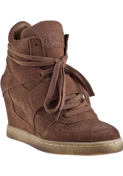 ash cool wedge sneakers ash cool wedge sneaker nut suede in brown lyst