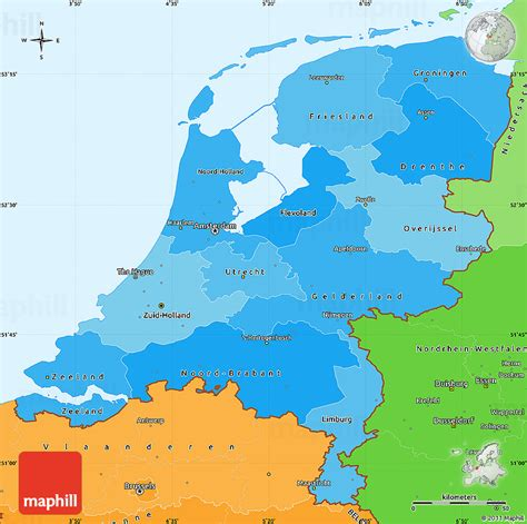 political map of the netherlands political shades simple map of netherlands