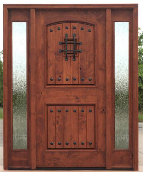 Teak Exterior Doors Exterior Door With Sidelights Pre Finished