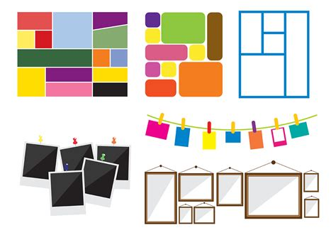 Free Photo Collage Vector Download Free Vector Art Stock Graphics Images Blank Collage Design Templates