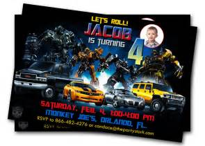 transformers birthday invitations cimvitation